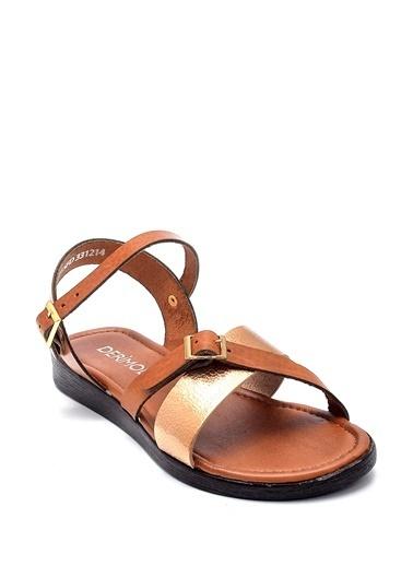 Derimod Kadın Deri Sandalet Renkli